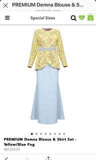 Poplook Premium Demna Kurung Blouse and Skirt