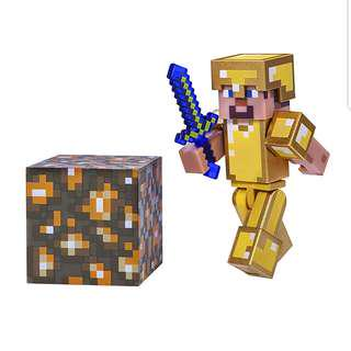 Minecraft Steve in Gold Armor Pack