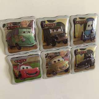 🚚 Disney Pixar Cars Magnets Square Deco For Magnet Board
