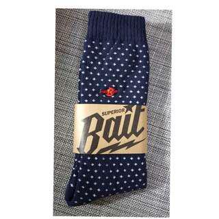 刺繡造型小十字運動潮襪