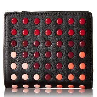 Fossil leather multi dots wallet