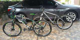 2 BICYLE HTG + EXITWAY ALLOY FRAME BICYCLE