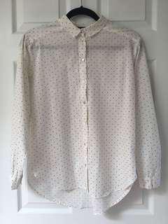 H&M button up shirt size 2