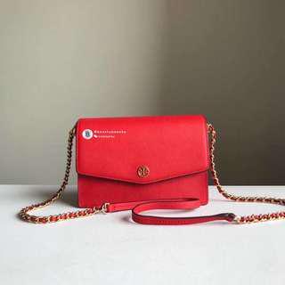 SALES🔥Tory Burch Robinson Convertible Mini Shoulder Bag - red