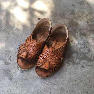 🚚 Chamula vintage 皮革涼鞋 beams 香蕉貓