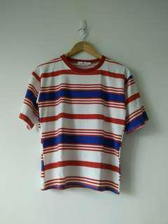 Korean crewneck stripes shirt