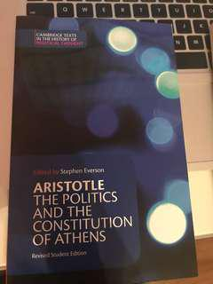 Aristotle The Politics and the Constitutions of Athens