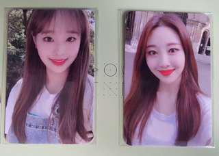[PO] LOONA Chuu and Yves broadcast photocard