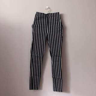 H&M STRIPED PANTS.