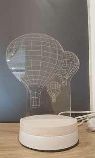 Hot air baloon led desk lamp