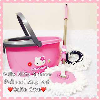 *NEW IN IN SG* Hello Kitty Spinner Pail and Mop Set