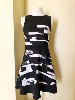 Shop Thrift Market Black Pattern Printed Dress