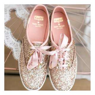 KEDS X KATE SPADE NEW YORK CHAMPION GLITTER BRAND NEW