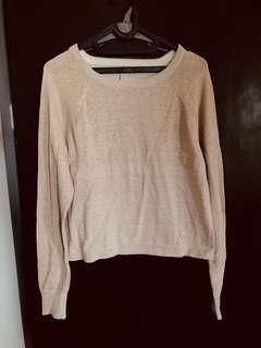 Forever 21 Baby Pink Glitter Sweater Size M