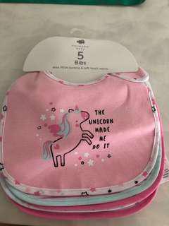 [Brand New] Primark Baby Unicorn Bibs