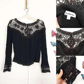 Top Longsleeve mix lace size S/M
