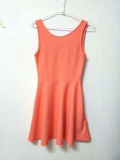 🚚 [售/換] H&M 粉橘無袖背心洋裝