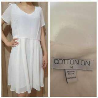 Cotton on white dress