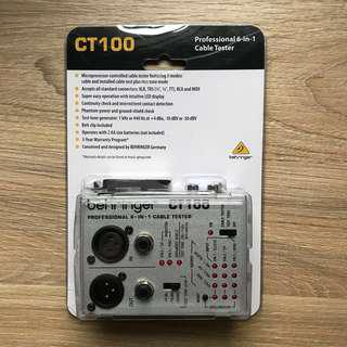 Professional Cable Tester - Behringer CT100