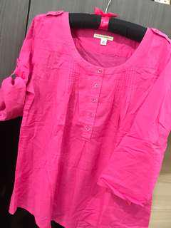 BANANA REPUBLIC blouse pink fuchsia