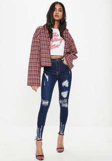 BRAND NEW!! Sinner Highwaisted Ripped Jeans