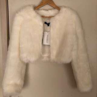 BNWT Faux Fur Cropped Jacket