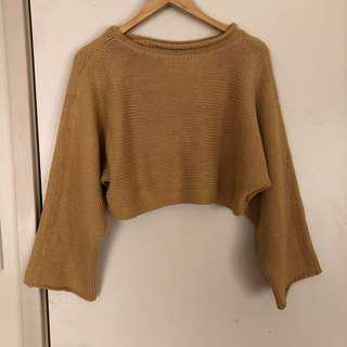 Mustard Knit Crop Jumper