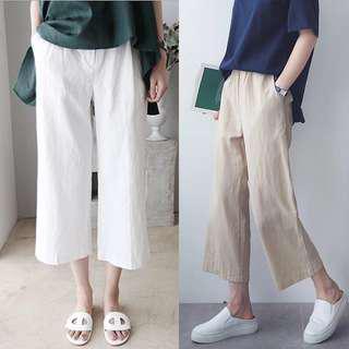 White Linen casual pants