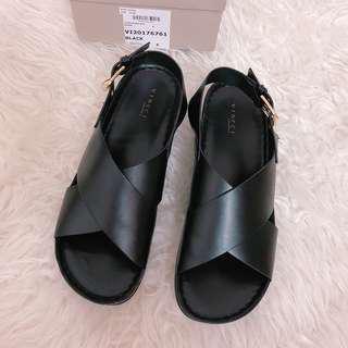 Vincci Black Sandals Wedges #under90