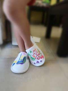 Noelle handpainted home slipper
