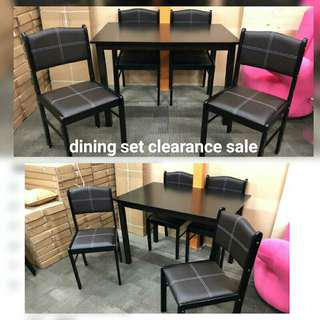 Dining set 1+4 clearance sale!