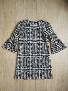 Zara Frill Sleeves Mini Dress