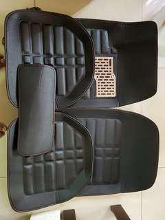 Leather deep dish floormat