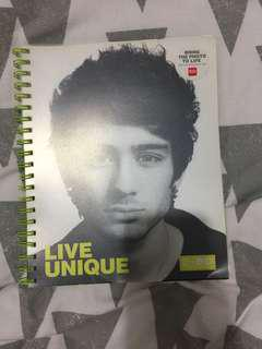 Zayn Malik One Direction Notebook