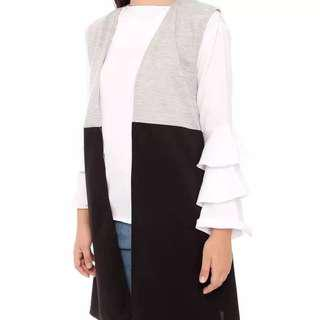 [NEW] Mix Ghaby Outer Hitam Abu2 - Wanita - Free Size
