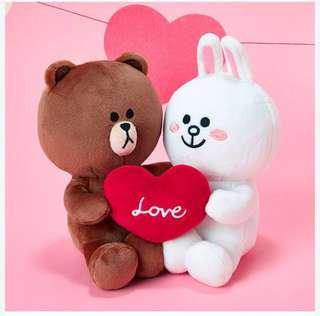 LINE FRIENDS Brown and Cony Couple 公仔