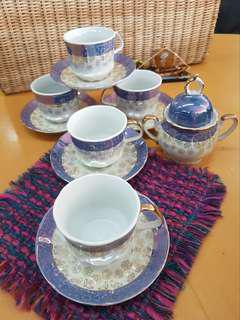 Teacup With Saucer - set of 5