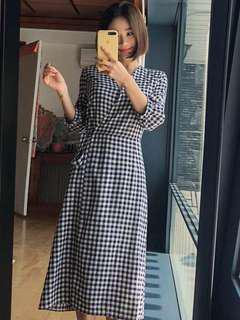 PO Plaid Long Dress