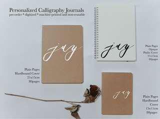 Personalized Calligraphy Notebook