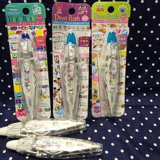🚚 ✨ Plus Deco Rush 日本迪士尼 立可帶貼紙 花邊立可帶 花邊帶 裝飾立可貼 ✨
