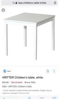 🚚 IKEA Blue KRITTER Children's Table