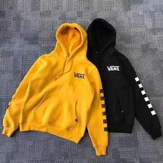 Vans Off The Wall Checkered Hoodie Pullover Sweater