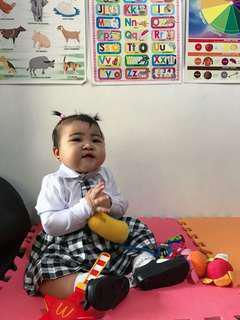 School uniform costume for baby