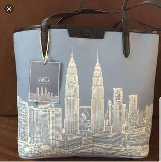 Duck KL tote bag- blue