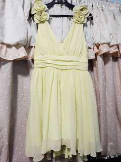 US Brand Yellow Formal / Prom / Wedding Cocktail Dress