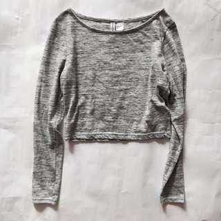 H&M Grey Crop Top