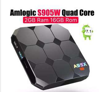 🚚 Preloaded A95X R2 Amlogic S905W Android 7.1 Bluetooth TV BOX 2GB RAM 16GBROM Quad Core LCD Display HD 4K 3D WiFi Media Player Smart Android Box