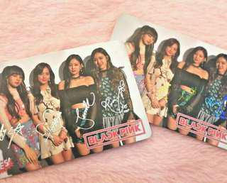 BLACKPINK AUTOGRAPH PHOTOCARD#MY1212