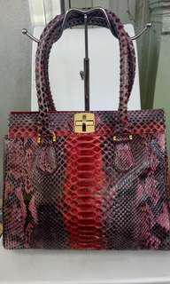 Authentic Ghibli Phython Red handbag