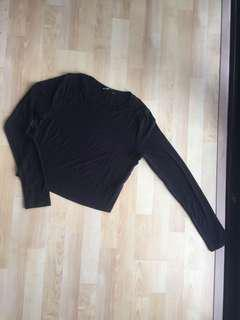 *3 FOR RM50* Zara Cropped Long Sleeve Top